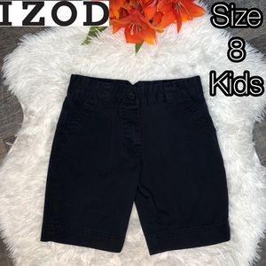 IZOD dark navy blue cargo shorts- kids boys